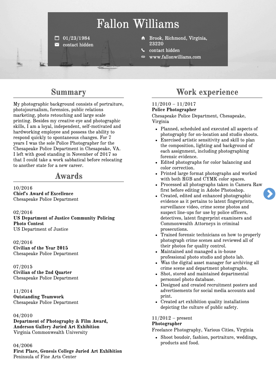 Photo Editor Resume Sample
